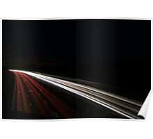 Motorway scene Poster