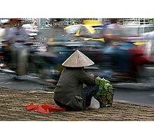 Roadside selling in Vietnam Photographic Print