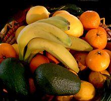 Fruit Basket  by Ilunia Felczer