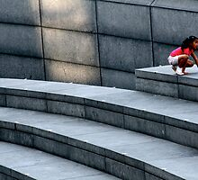 Girl on the steps by Alastair Humphreys
