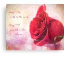 Rose Art - Happiness Shared Canvas Print