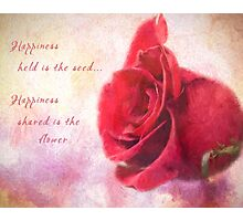 Rose Art - Happiness Shared Photographic Print