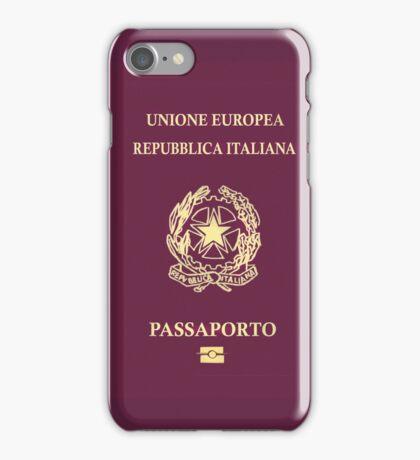 Italian Passport iPhone Case/Skin