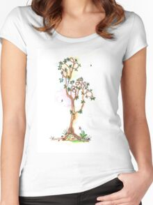 Tree of Life #17 - the art of doing nothing. Women's Fitted Scoop T-Shirt