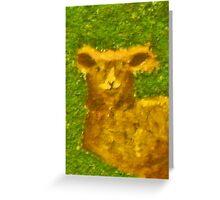 Lamb - Rhian B Greeting Card