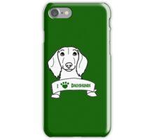 I Love Dachshunds logo iPhone Case/Skin