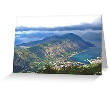The Bay of Kotor Greeting Card