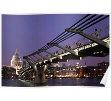 St Paul's Cathedral at night Poster