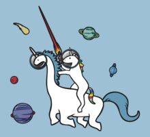 Unicorn Riding Dinocorn In Space Kids Clothes