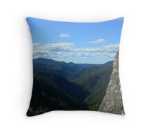 The Rock at Leven Canyon Throw Pillow