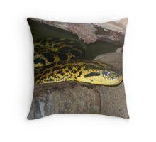 Green Anaconda 2 Throw Pillow