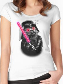 DARTH MEOW Women's Fitted Scoop T-Shirt