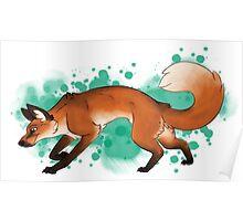 Red Fox Romp [Splatter] Poster