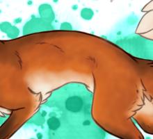 Red Fox Romp [Splatter] Sticker