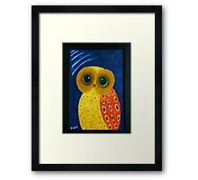 My First Owl Painting Framed Print