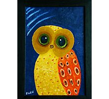 My First Owl Painting Photographic Print