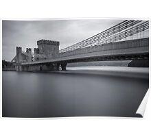 Conwy Suspension Bridge Poster