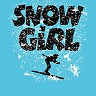 Snowgirl Après-Ski Design for Skiers by theshirtshops