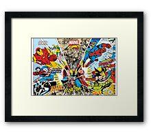 Marvel Comic Framed Print