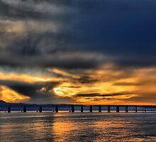 Tay Bridge at Sunset by Alisdair Gurney