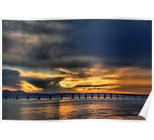 Tay Bridge at Sunset Poster