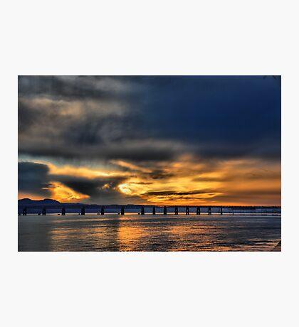 Tay Bridge at Sunset Photographic Print