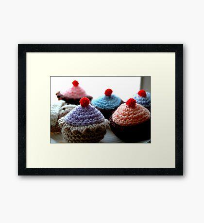 Knitted Cakes Framed Print