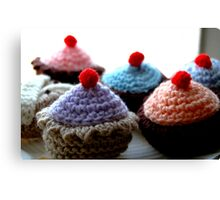 Knitted Cakes Canvas Print