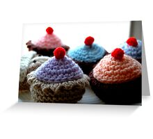 Knitted Cakes Greeting Card