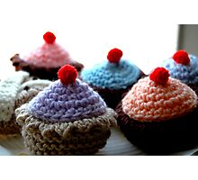 Knitted Cakes Photographic Print