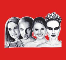 The Many Faces of Natalie Portman Kids Tee