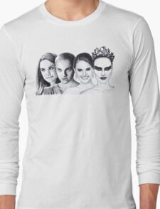 The Many Faces of Natalie Portman Long Sleeve T-Shirt