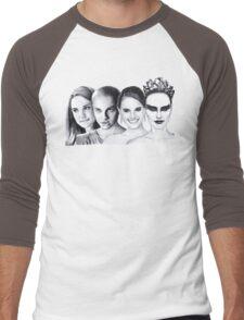 The Many Faces of Natalie Portman Men's Baseball ¾ T-Shirt