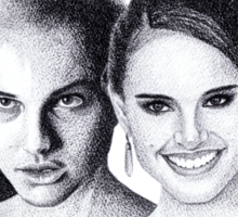 The Many Faces of Natalie Portman Sticker