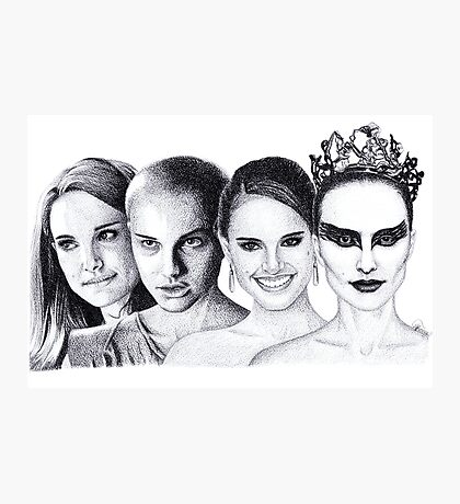 The Many Faces of Natalie Portman Photographic Print