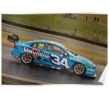 V8 Supercars - Sydney 400  2014 -  Robert Dahlgren - Volvo Poster
