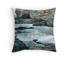 Caves Beach headland Throw Pillow