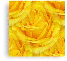 Modern Abstract Seamless Yellow Rose Petals Canvas Print