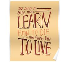 Learn to Live - Natural Poster
