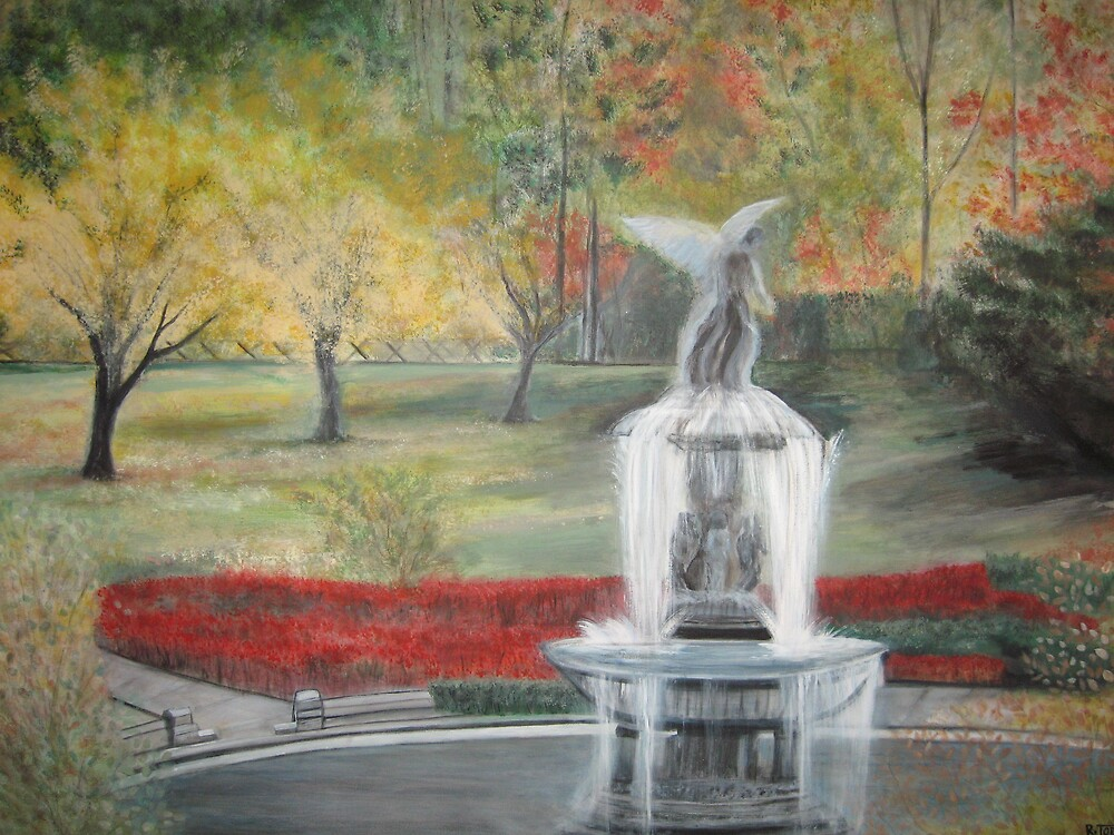 Central Park in  Fall  at the Bethesda  Fountain      ( My Paintings ) by fiat777