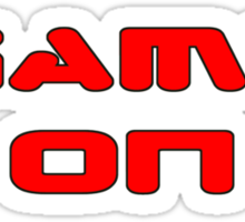 Game Over - Game On - Computer T-Shirt Sticker