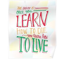 Learn to Live - Colourful Poster