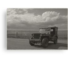 1940's Vintage Jeep Canvas Print