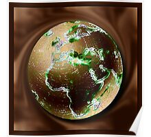 WORLD GLOBE EFFECTS AND DESIGN PICTURE,PILLOW AND TOTE BAG Poster