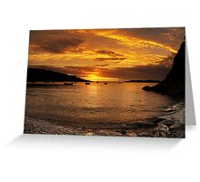 Sunrise from Squince Harbour Greeting Card