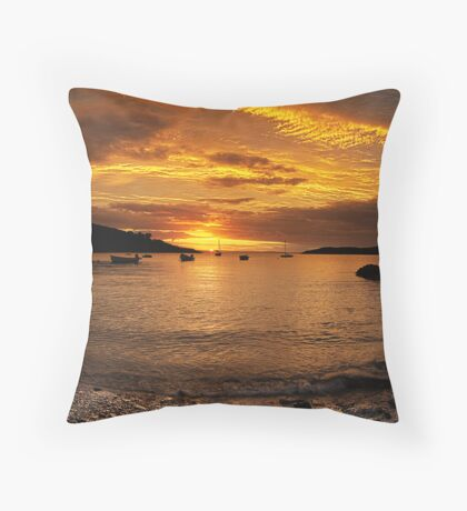 Sunrise from Squince Harbour Throw Pillow