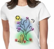 Colorful Meditation Womens Fitted T-Shirt