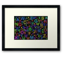 Alphabet colours Framed Print
