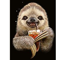 SLOTH & SOFT DRINK Photographic Print