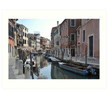 Canal in Dorsoduro, Venice Art Print